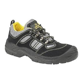 Amblers Steel FS111 Womens Safety Trainers Textile Leather Dual Density Lace Up