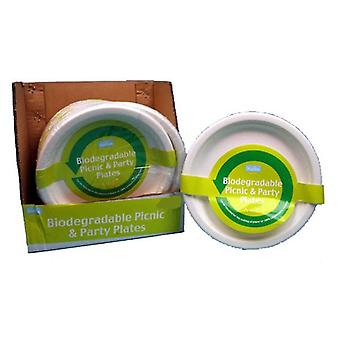 4pc Biodegradable Picnic and Party Dinner Plates 23cm Disposable Compostable