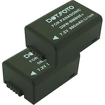 2 x Dot.Foto Panasonic DMW-BMB9, DMW-BMB9E, DMW-BMB9PP vervangende batterij - 7.4V / 895mAh