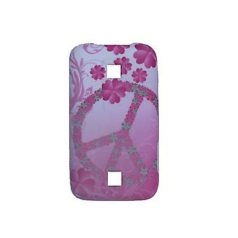 Snap-On Case for Huawei Ascend M860 (Pink Peace Flowers)