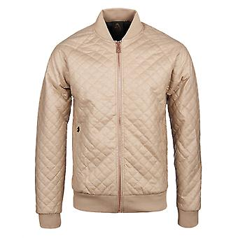 Luke 1977 Thiery Lux Sand Quilted Bomber Jacket