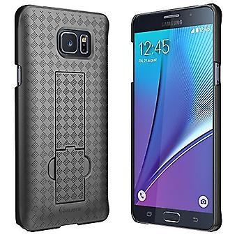Galaxy Note 5 fall, i-Blason transformator Slim skal Case Holster Combo med cykelställ och låsning bälte Swivel Clip-Svart