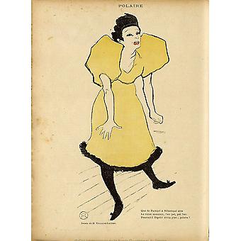 Henri Toulouse Lautrec - Polaire from La Rire Poster Print Giclee