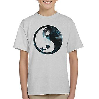 Surfing Ying Yang Kid's T-Shirt