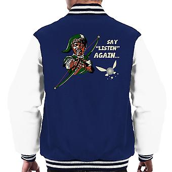 Zelda Samuel L Jackson Say Listen Again Pulp Fiction Men's Varsity Jacket