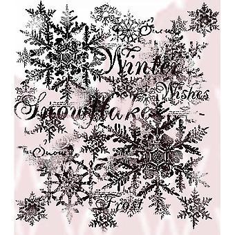 Flocos de neve woodware Clear Stamp