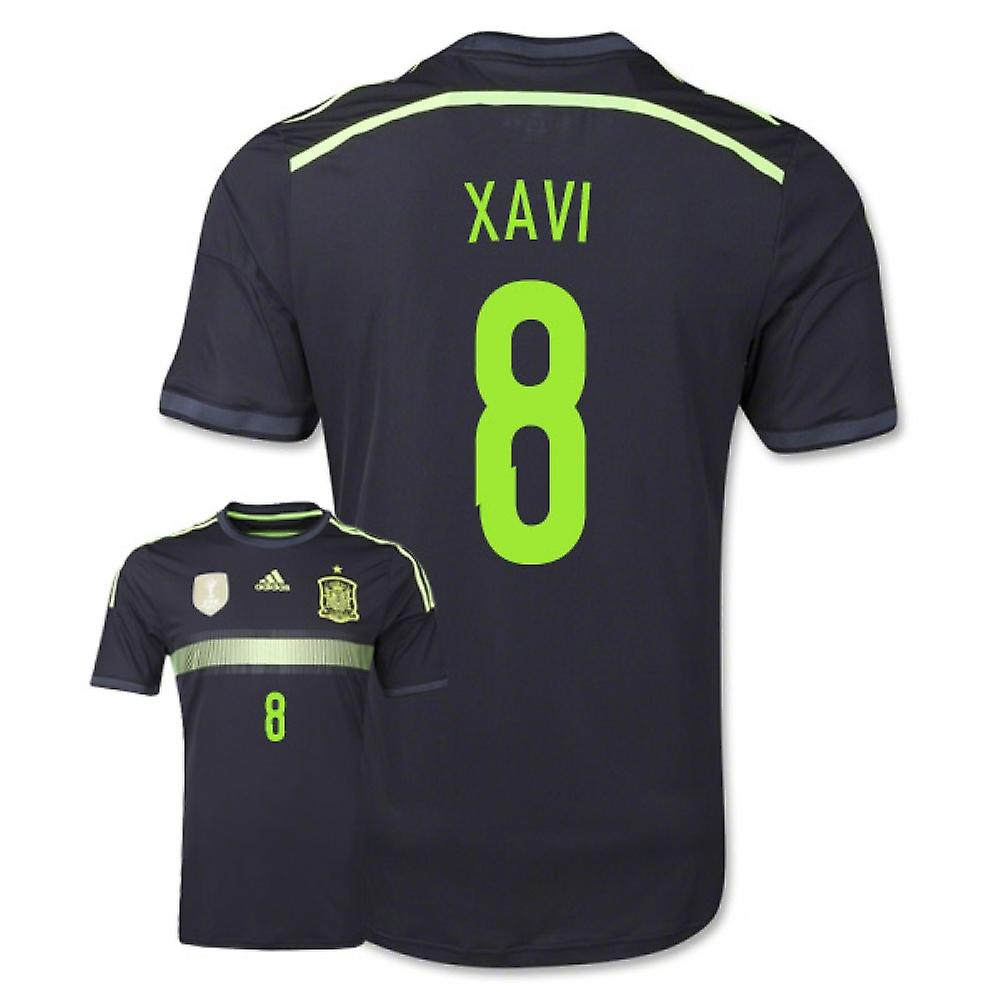 2014-15 Spain Away World Cup Shirt (Xavi 8)
