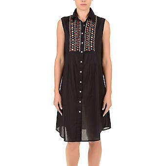 Aztec Noir iconique IC7-030 féminine Camisole Beach robe brodée