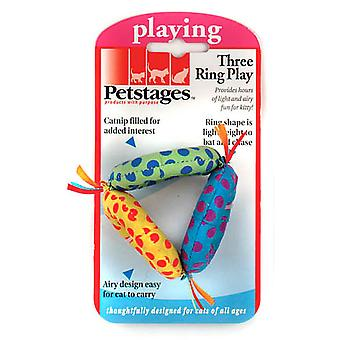 Petstages Three Ring Catnip Cat Toy