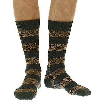 The Solsbury warm men's wool boot sock in forest | By Scott-Nichol