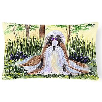 Carolines Treasures  SS8112PW1216 Shih Tzu Decorative   Canvas Fabric Pillow
