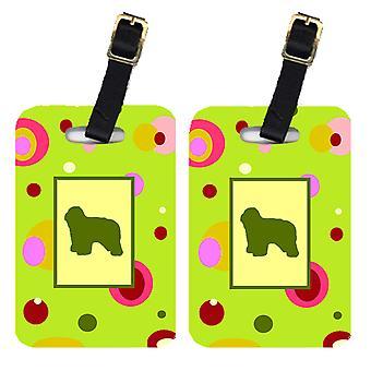 Carolines Treasures  CK1144BT Pair of 2 Polish Lowland Sheepdog Luggage Tags