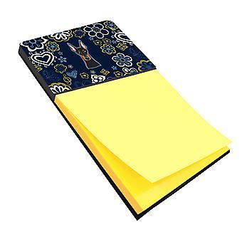 Каролинских сокровища BB5096SN голубые цветы Доберман записки держатель
