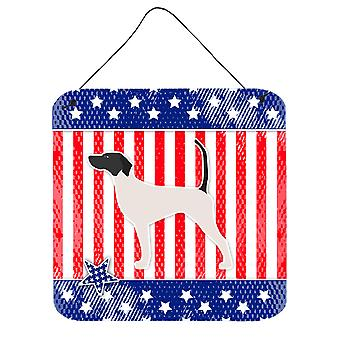 USA Patriotic English Pointer Wall or Door Hanging Prints