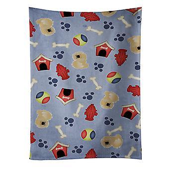 كنوز كارولين BB4108KTWL بيت الكلب جمع منشفة المطبخ بيكينجيسي