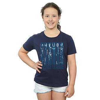 DC Comics Girls Justice League Movie Double Indigo T-Shirt