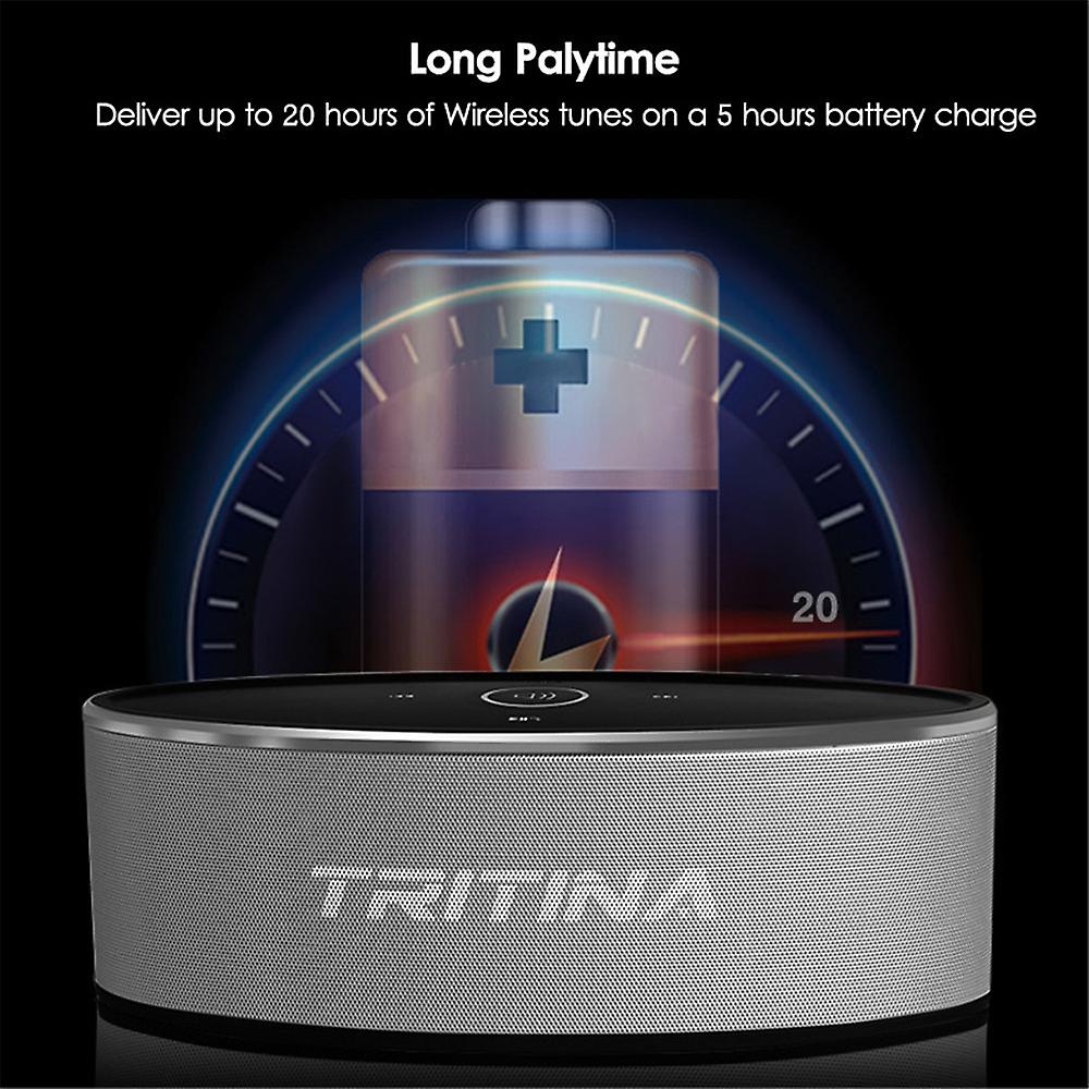 Tritina Wireless Speaker Stereo HD Sound, Touch Control with Fashion Light, Bluetooth V4.1 Built-in Mic Handsfree Phone Calling, TF Card Slot & AUX Cable
