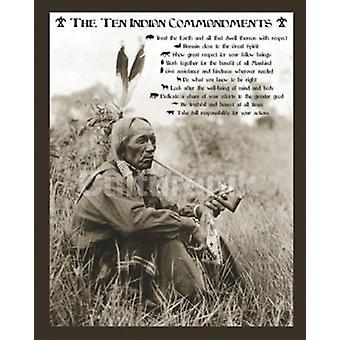 10 mandamientos indios Poster Poster Print