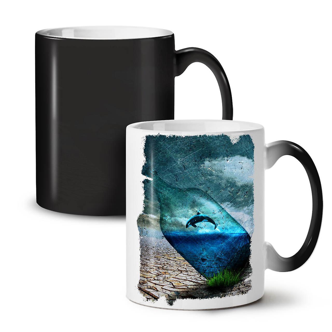 Thé Céramique Couleur OzWellcoda Bouteille Orca Noir 11 Tasse Nouvelle Changeant Nature Café tsBhxrdQC