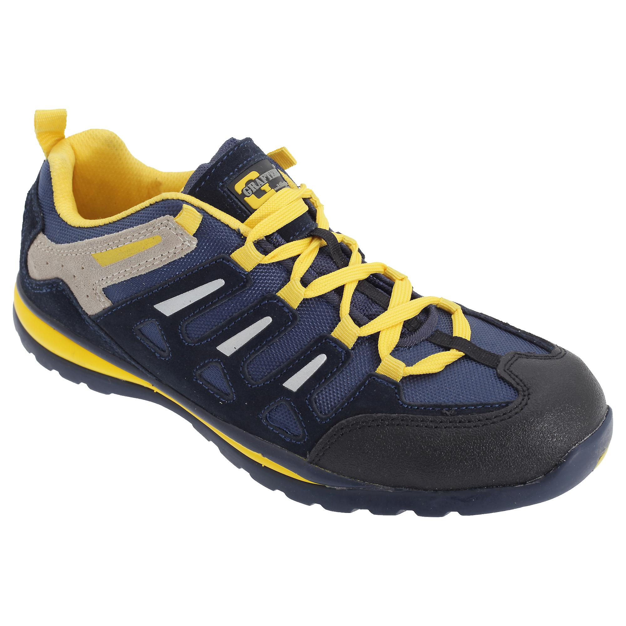 Grafters Mens Trainer Suede Safety Toe Cap Trainer Mens Shoes c3ccb1