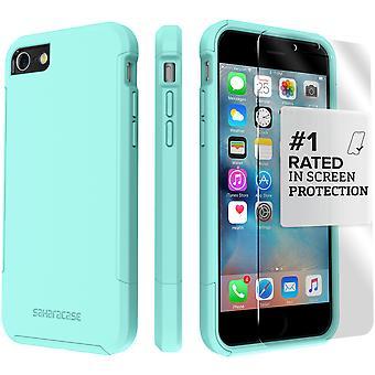 SaharaCase iPhone 8 & 7 Aqua Case, Inspire Protective Kit Bundle with ZeroDamage® Tempered Glass