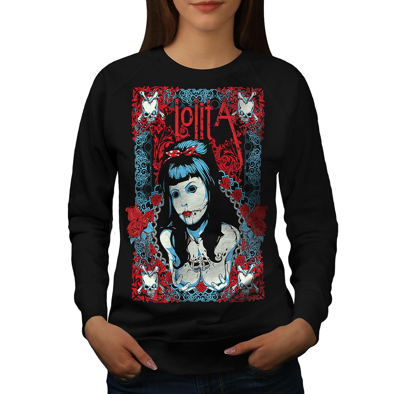 Lolita Sexy Dead Gangster Women Black Sweatshirt | Wellcoda