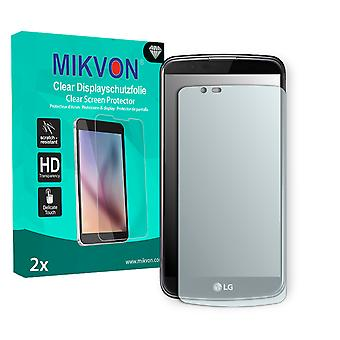 LG K10 Screen Protector - Mikvon Clear (Retail Package with accessories) (intentionally smaller than the display due to its curved surface)