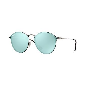 Ray - Ban Blaze silver Round silver mirrored Green