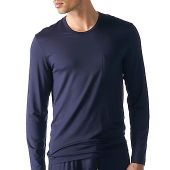 Mey 65640-668 Men's Jefferson Blue Solid Colour Pajama Pyjama Top