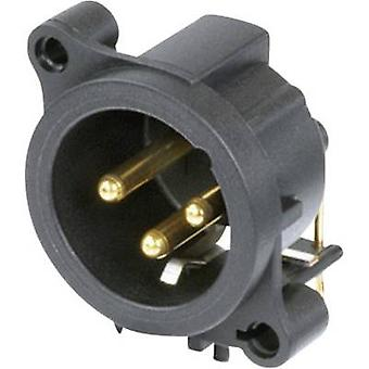 XLR connector Sleeve plug, right angle pins Number of pins: 3 Black Neutrik NC3MAAH 1 pc(s)