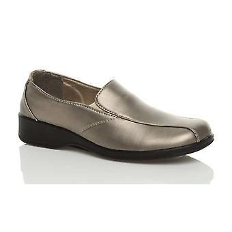 Ajvani womens comfort flexible sole low heel wedge slip on work nurse loafers walking shoes