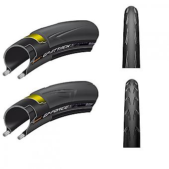 Continental bicycle of tire attack & Force III set 28