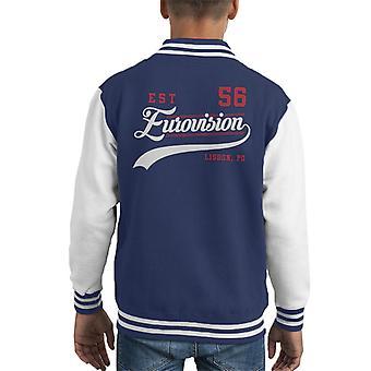 Eurovision Est 56 Portugal Kid's Varsity Jacket