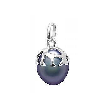 Colgante de perla negra cultura y plata 925/1000