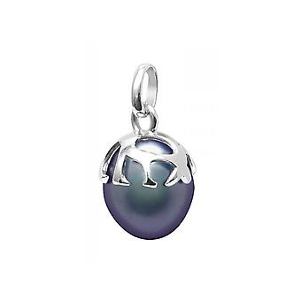 Lampa wisząca Czarna perła kultury i srebro 925/1000