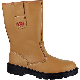 Centek Mens FS334 Leather Rigger SB Safety Boot Brown