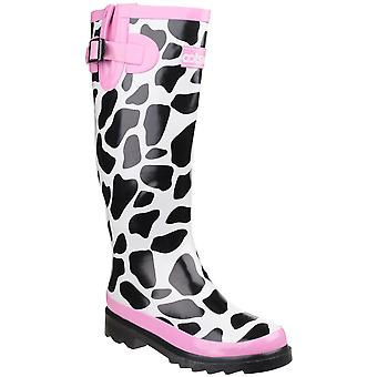 Cotswold Womens/dames Moo Cow caoutchouc impression Wellies bottes