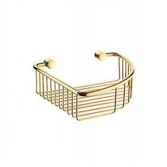 Villa Brass Soap Basket Corner 1 Level V274