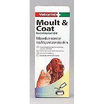 Vetzyme Moult And Coat Formula for Cat and Dog, healthy glossy coat.,150ml