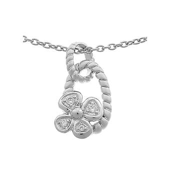 Orphelia plata 925 cadena con colgante zirconio ZH-6020