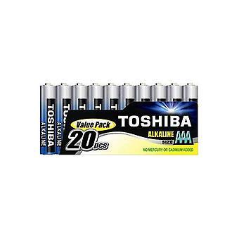 20 x TOSHIBA Potenza Extra AAA Micro, LR03 alcaline 1, 5V, confezione da 20 pz.