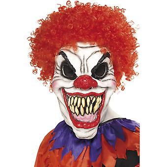 Horror clown mask foam latex very real horror clown hair