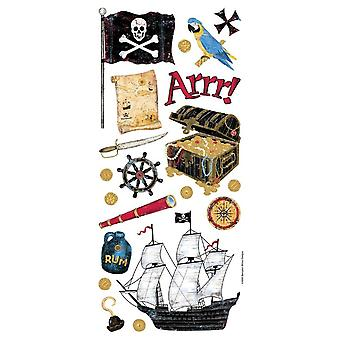 Sandylion Stickers/Borders Packaged-Pirate