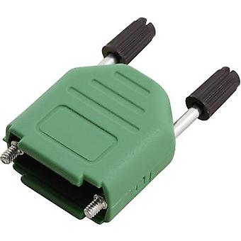D-SUB housing Number of pins: 9 Plastic 180 ° Green