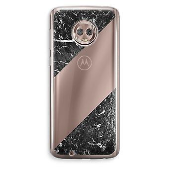 Motorola Moto G6 Transparent Case (Soft) - Black marble