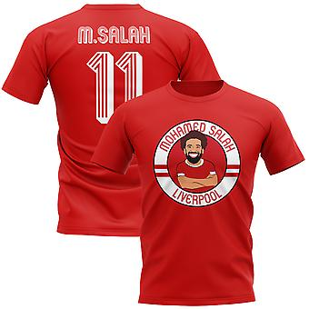 Mohamed Salah Liverpool ilustración camiseta (rojo)