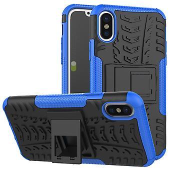 Nex Style Hybrid Case 2teilig Outdoor Blau für Apple iPhone XS MAX 6.5 Zoll Tasche Hülle Cover Schutz