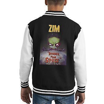 Zim Invader From Space Kid's Varsity Jacket