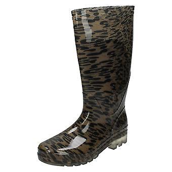 Womens flekk på Leopard Print gummistøvler