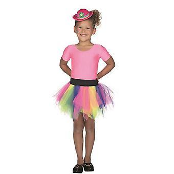 Falda de tul Tutu colores de arco iris para niños payaso circo carnaval